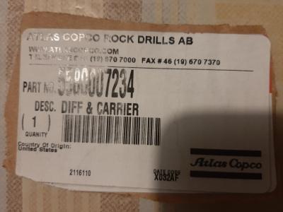 Atlas Copco 5580007234 Axle